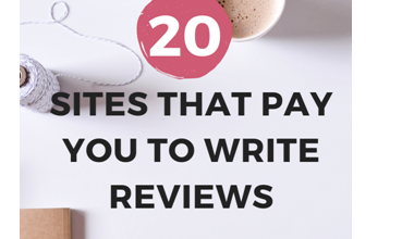 Photo of Top 20 Sites that Pay You to Write Reviews